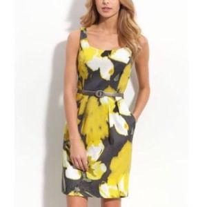Eliza J Floral Abstract Watercolor Dress Sz 8 EUC